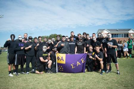 Members of Sigma Alpha Epsilon earn a win over the fraternities at Greek Olympics last October. | Submitted photo