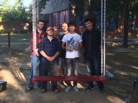 Engineering majors rebuilt the swing in the grove. | submitted photo