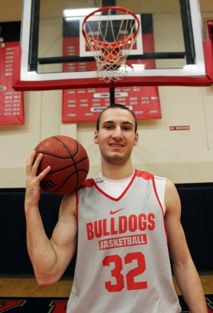 Aleksandar Cosic, freshman basketball player, is from Benglade, Serbia. | Photo by Sol Bee Park, staff photographer