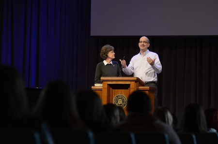 Pat and George spoke in the G.M. Savage Memorial Chapel on how they met and a few key points for marriage.