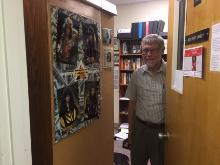 Terry Lindley, professor of history, poses for a picture inside his office. | photo by Emily Littleton