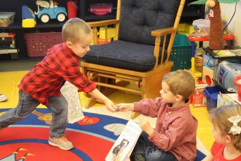 DCC Preschool and Elementary Students Enjoy Valentine's Day