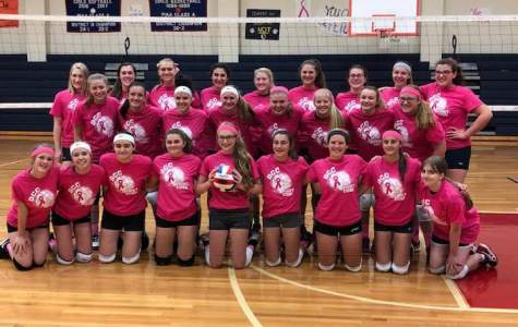 DCC Volleyball's Pink Night was a Success!