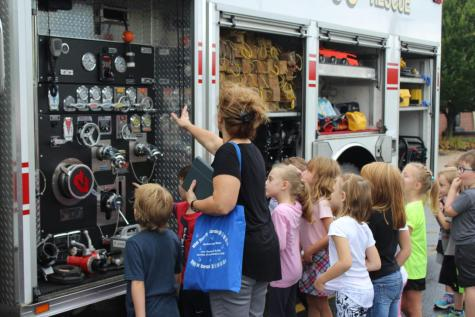DCC Kindergarten and Preschool Classes Learn About Fire Safety