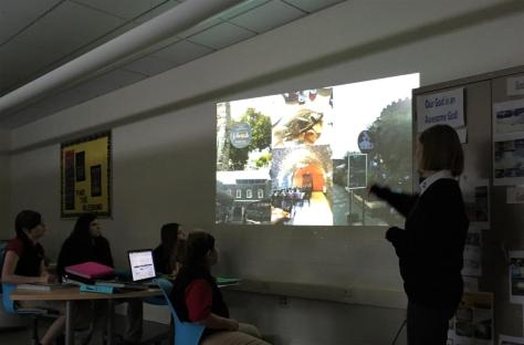 DCC's Maddie Hannah Tells Theology 6 Students about her Trip to the Holy Land