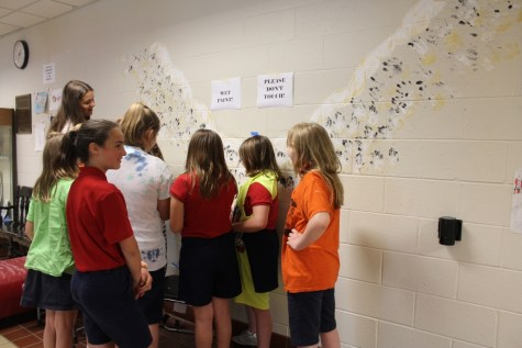 DCC Elementary Art Students Create Hand Print Mural