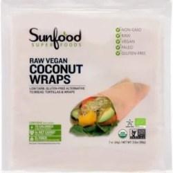 Paleo Coconut wraps raw vegan organic
