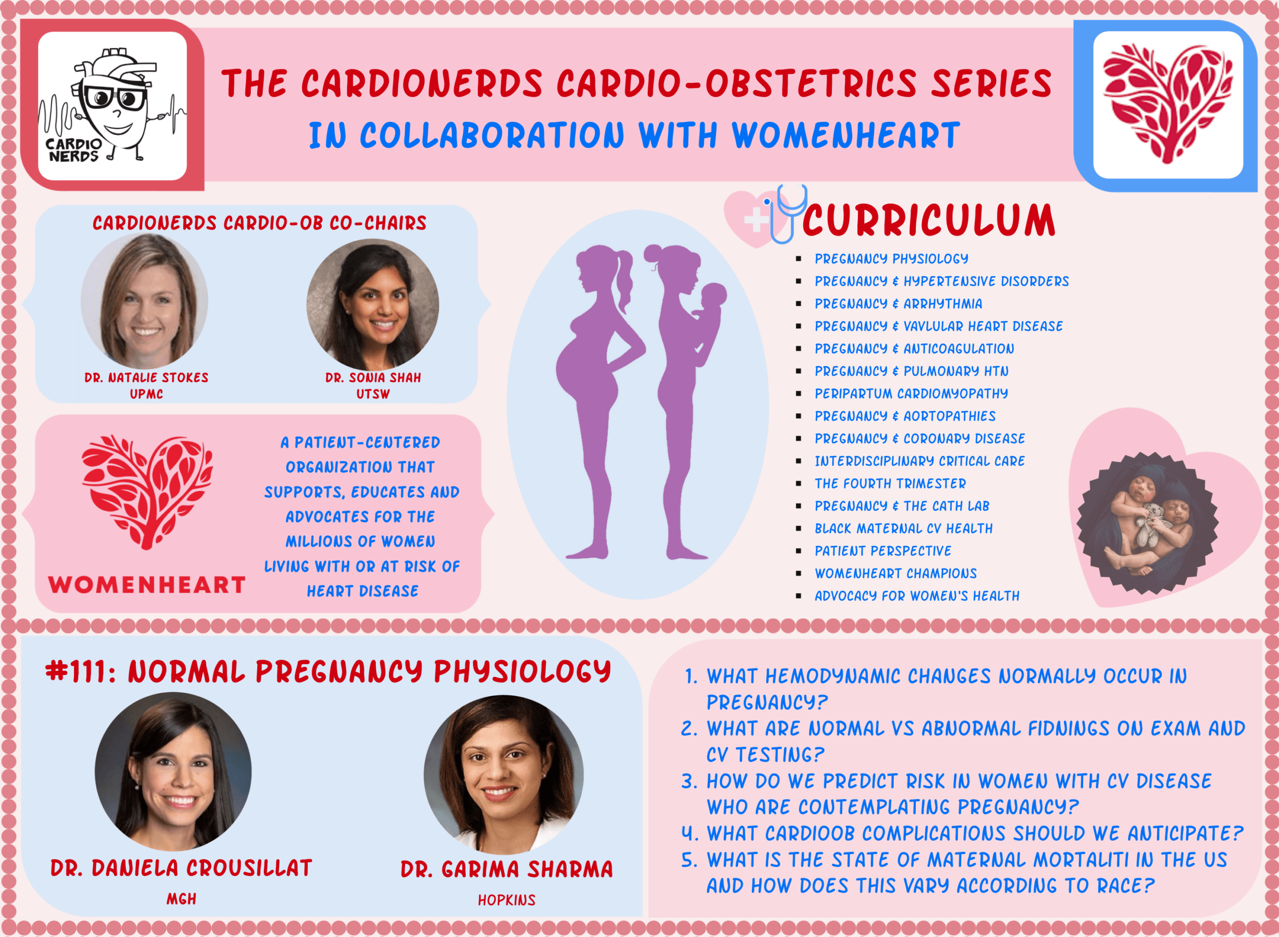 111. Cardio-Obstetrics: Normal Pregnancy Physiology with Dr. Garima Sharma