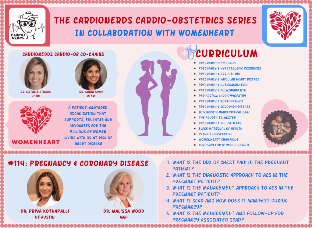 114. Cardio-Obstetrics. Pregnancy and Coronary Disease with Dr. Malissa Wood