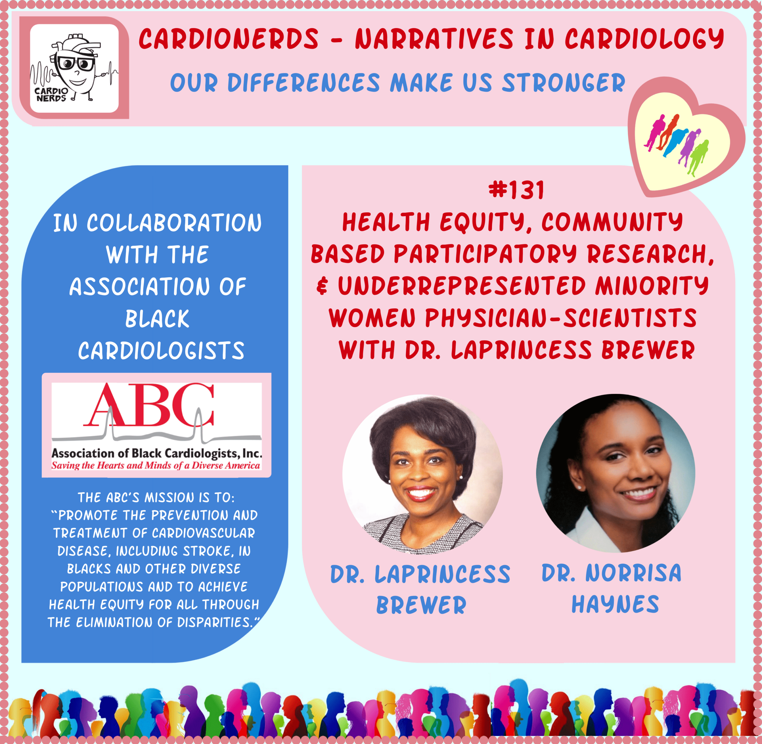 131. Narratives in Cardiology: Health Equity, Community Based Participatory Research, & Underrepresented Minority Women Physician-Scientists with Dr. LaPrincess Brewer