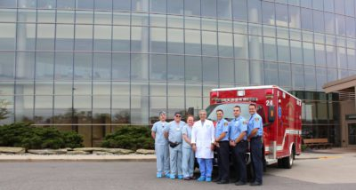 Dr. Kazziha working hand in hand with emergency medical services