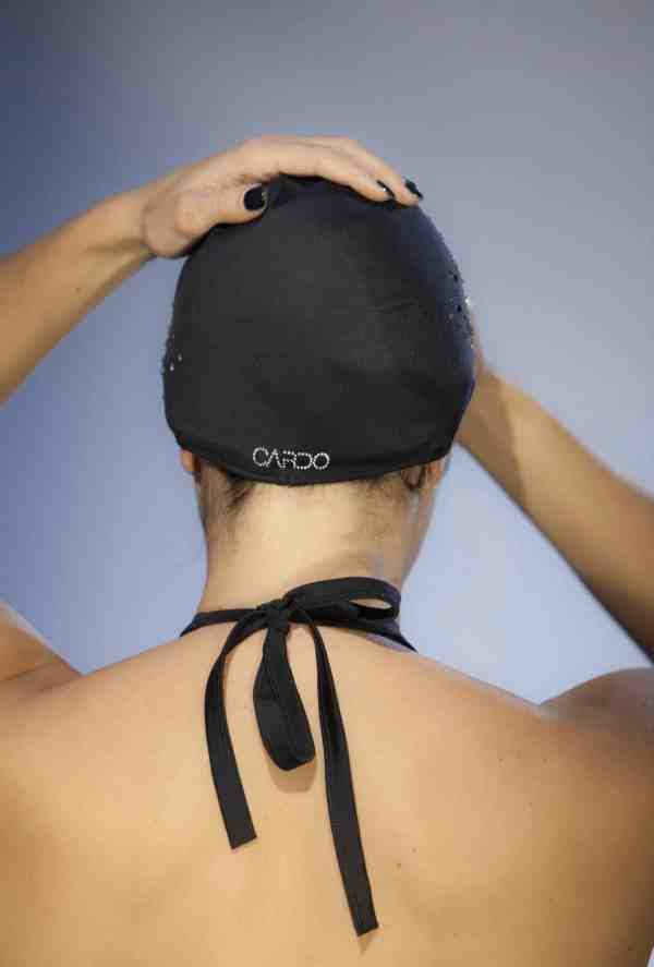 Bonnet de bain Swarovski CARDO Paris piscine maillot de bain déperlant joli élégant confortable français