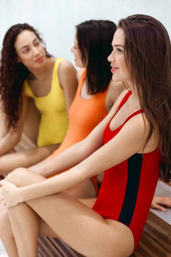 Maillot de bain CARDOLO rouge ganse noire CARDO Paris piscine swimwear joli élégant confortable français