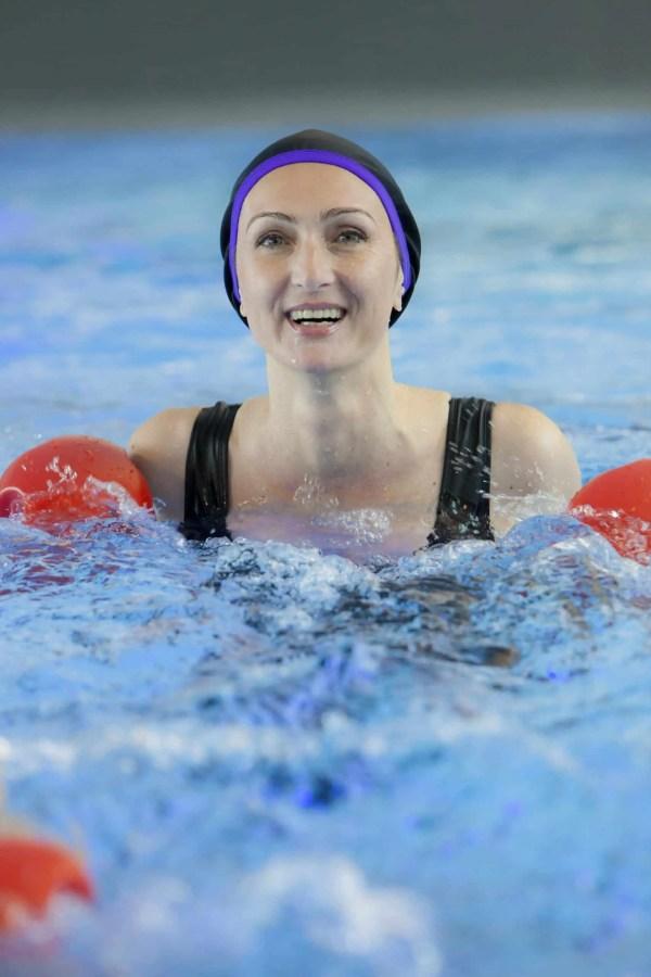 Bonnet de bain Romy violet CARDO Paris piscine maillot de bain déperlant joli élégant confortable français