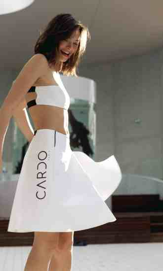 Skirt JDD white CARDO Paris swimming pool swimwear pretty elegant comfy chlorine and sea water resistant french
