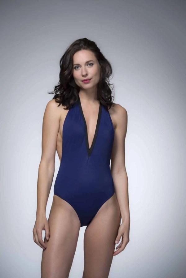 Maillot de bain NEVADA bleu marine CARDO Paris piscine swimwear joli élégant confortable français