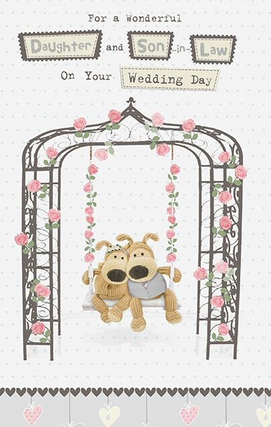 Boofle Daughter And Son In Law Wedding Card