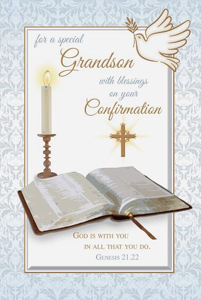 Grandson Confirmation Card