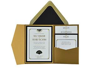 Cards And Pockets Free Pocket Wedding Invitation Templates