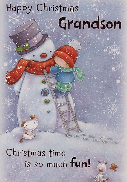 Male Relation Christmas Cards Happy Christmas Grandson