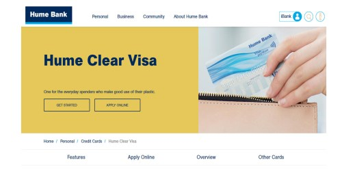 Hume Clear Credit Card