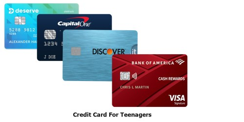 Credit Card For Teenagers
