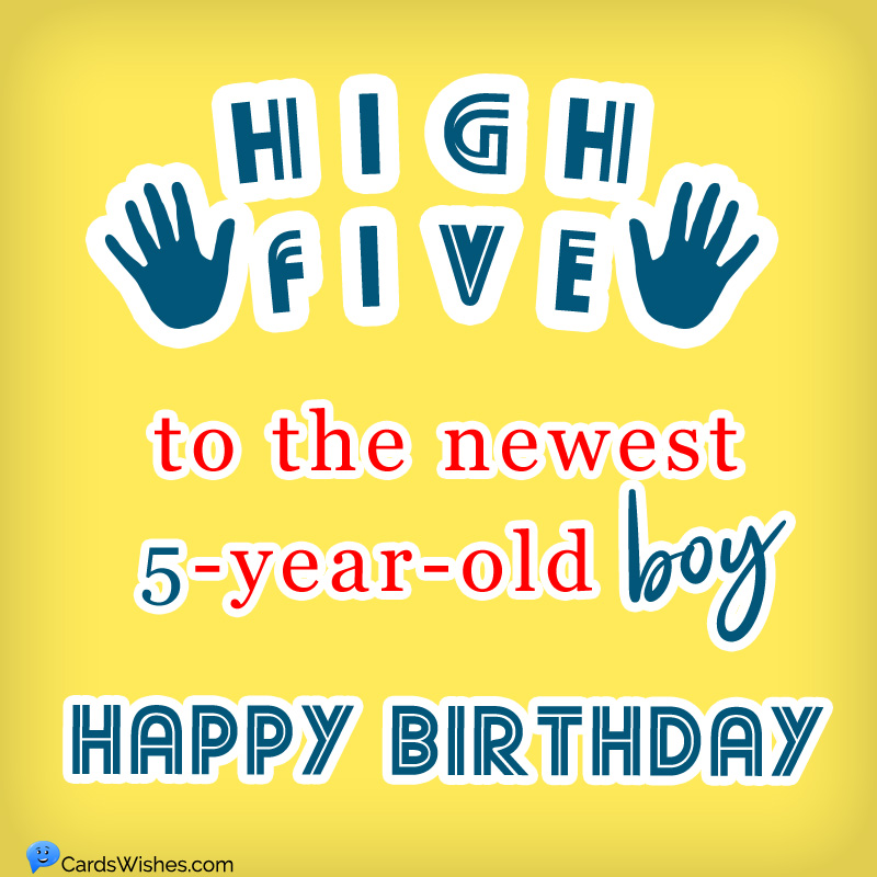 Happy 5th Birthday Amazing Birthday Wishes For 5 Year Old