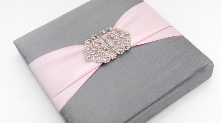 Lc 1011 Lilac Laser Cut Ribbon Pocket Fold Style Invitation