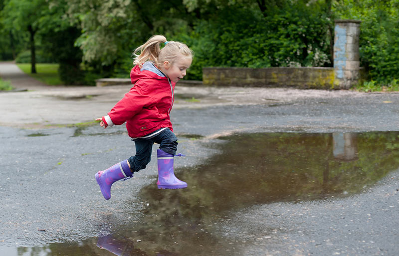 puddle-splashing