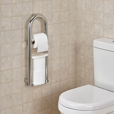 Spa Toilet Roll Holder With Grab Rail Careco