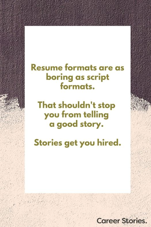 resume format how to write a resume