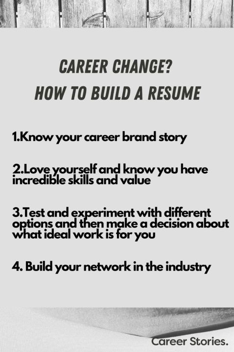 how to build career change resume