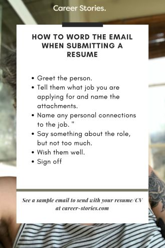 Email When Sending A Resume
