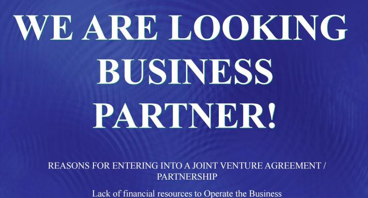 We are looking for Good Investors /Silent Partner