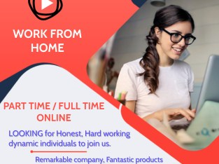 WORK FROM HOME – PART TIME / FULL TIME – ONLINE