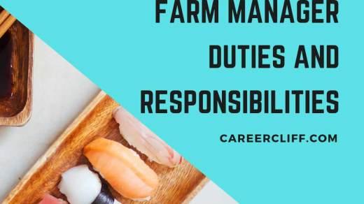 farm manager duties responsibilities and job description