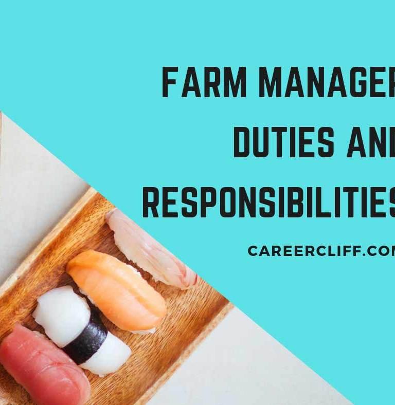 Farm Manager Duties, Job Responsibilities