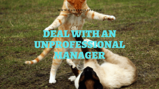 Deal With an Unprofessional Manager