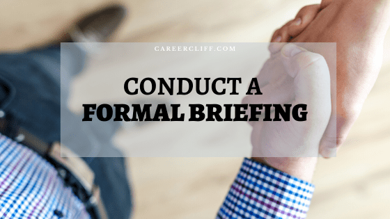 How to Conduct a Formal Briefing in Workplace