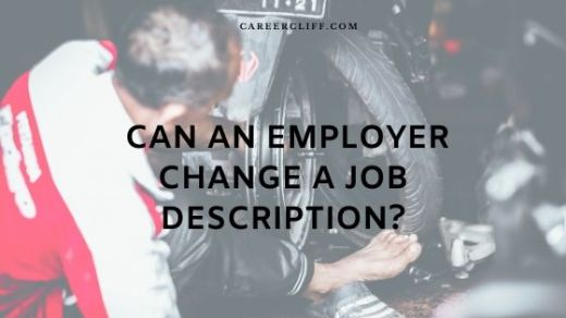 Change of job description without a change in pay