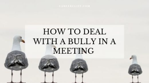 how to handle a bully in a meeting
