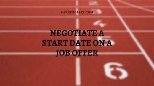 how to negotiate a start date on a job offer
