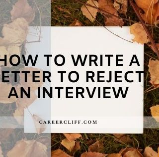 how to write a letter to reject an interview
