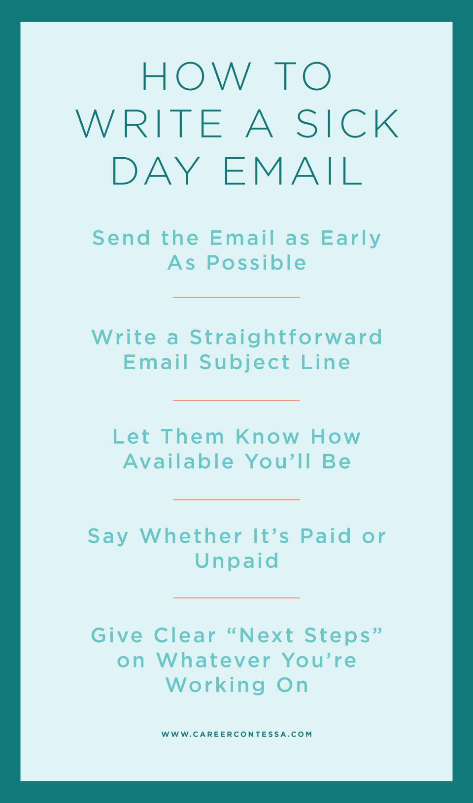 How To Write A Sick Day Email A Template Career Contessa