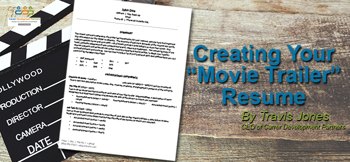 Creating a Movie Trailer Resume