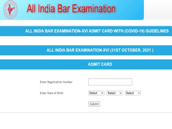 AIBE Admit Card 2021 Released