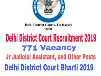 Delhi District Court Recruitment 2019 : 771 Vacancy