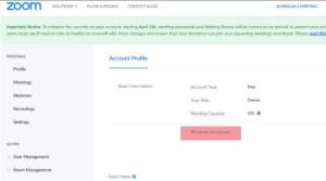 Permanent delete Zoom Account