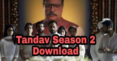 Tandav season 2 Download Filmyzilla